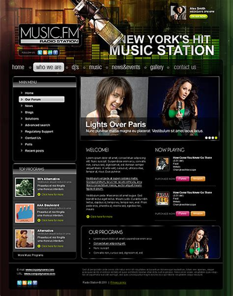 templates for radio website radio station joomla template 111269 simple templates