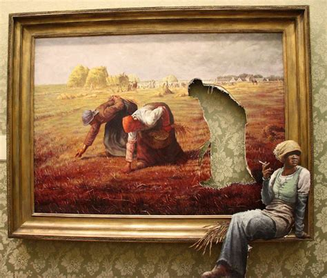 banksy art breaks the taking a well deserved rest bansky year around 2010 x post from r unusualart art