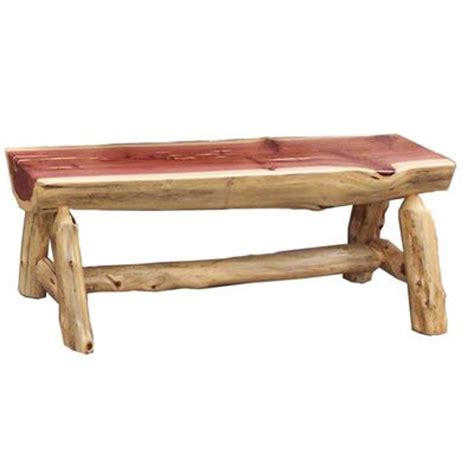 cedar log bench rustic cedar bench plans woodworking projects plans