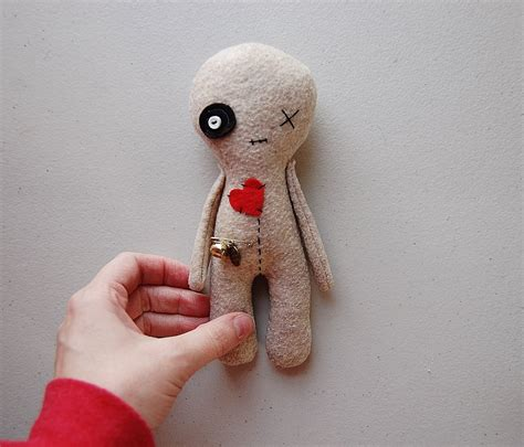 voodoo doll handmade doll rag doll decor softie