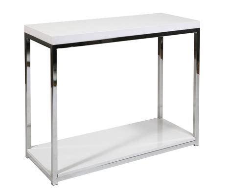 wall accent tables wall street avenue six white top chrome legs foyer hall
