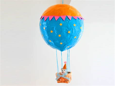 How To Make Paper Air Balloon - how to make a paper mache air balloon hobbycraft