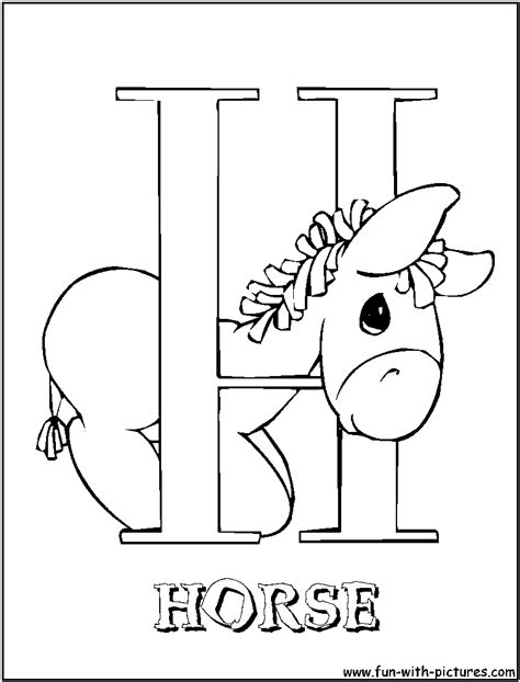 Free Letters H Coloring Pages H Coloring Pages