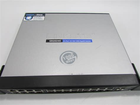 Router Cisco 24 Port cisco linksys sr2024c 24 port 10 100 1000 gigabit switch with rack ears premier equipment