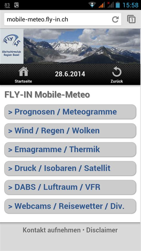mobile il meteo it meteo briefing auf dem smartphone gliderhub