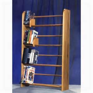 Wooden Dvd Storage Model 405 Vhs Amp Dvd Storage Rack
