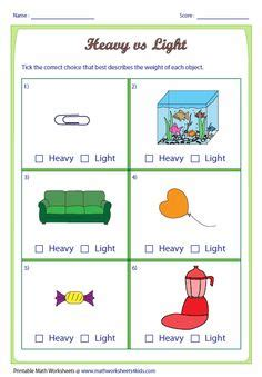 heavy and light lesson plan kindergarten long and short help teach children the concept of length