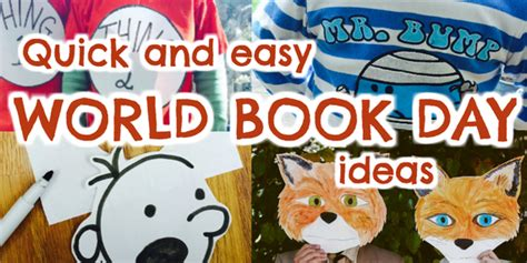 themes for world book day quick easy costume ideas for world book day