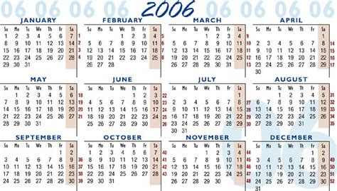 Calendar For 2006 2006 Calendar Moon Beam Network