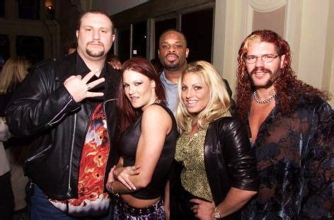 trish stratus edge with lita trish stratus and raven dudley boys