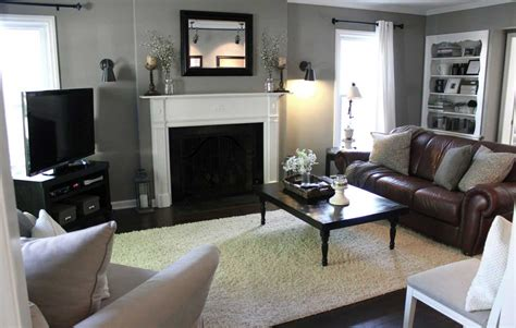 Living Room Ideas Grey Brown Grey And Brown Living Room Ideas With Fireplace Home
