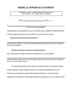 Power Of Attorney Free Template by Sle Power Of Attorney Form 7 Free Documents