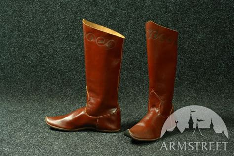 Handmade Renaissance Boots - classic handmade high boots for sale available