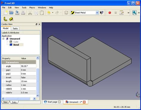 python cad library sheet metal addon for freecad projects anyone