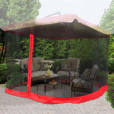 Mosquito Netting For Patio Umbrella 9 X9 Mosquito Netting Bug Mesh Net For Outdoor Patio Offset Umbrella Gazebo Top Ebay