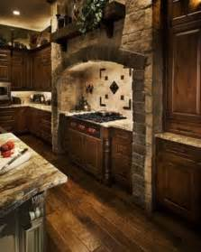 Stone Kitchens Design Mediavel Castle And Stone Range Hood Old Word Kitchen