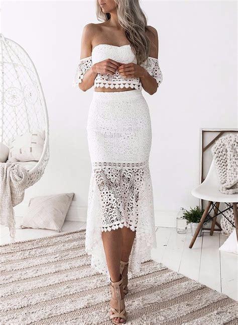 Set Dressm s fashion crop top lace 2 mermaid skirt set dress novashe