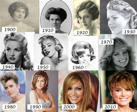 hair styles over the decades 32 best changes over time makeup and styles images on