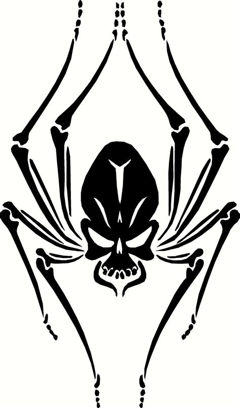 free skull tattoo designs to print black widow skull spider vinyl decal graphic choose your