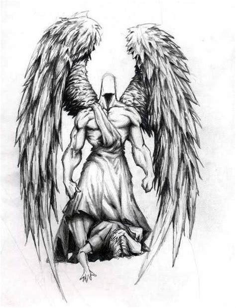 tribal angel tattoo designs tribal guardian designs elaxsir