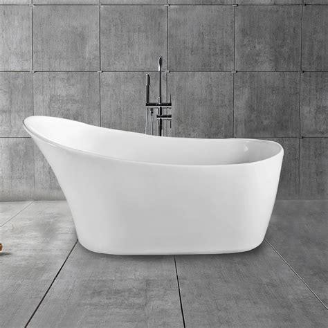 freestanding slipper bathtubs 67 in single slipper freestanding bathtub acrylic white