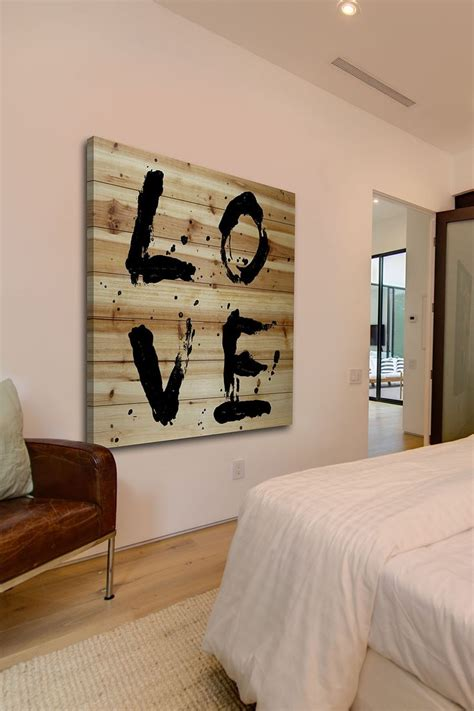 hautelook home decor l o v e brown distressed wood wall art by marmont hill inc