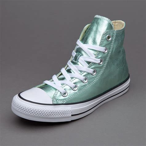 Sepatu Converse New sepatu sneakers converse womens chuck all seasonal metallics glacier white black