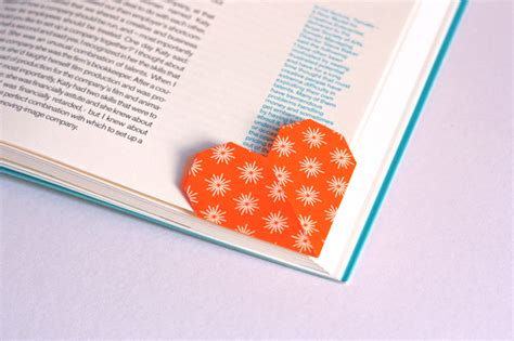 Origami Page Marker - shaped page marker origami how about orange