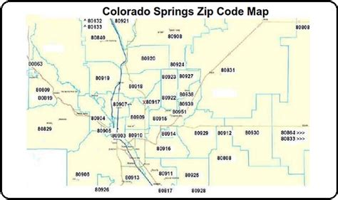 colorado springs zip code map zip codes colorado springs map my