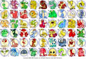 neopets colors the neopets swag