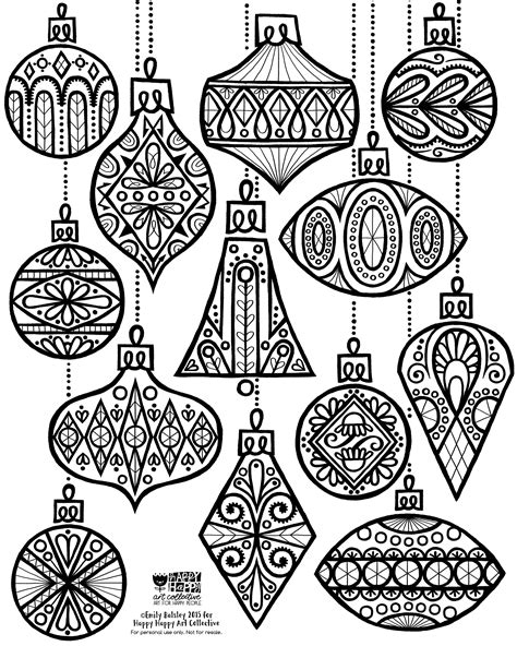 24 Days Of Freebies Day 2 Ornament Coloring Sheet Ornaments Coloring Pages For Adults