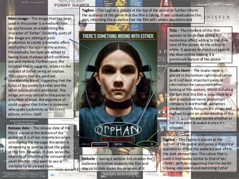 orphan film poster analysis orphan poster