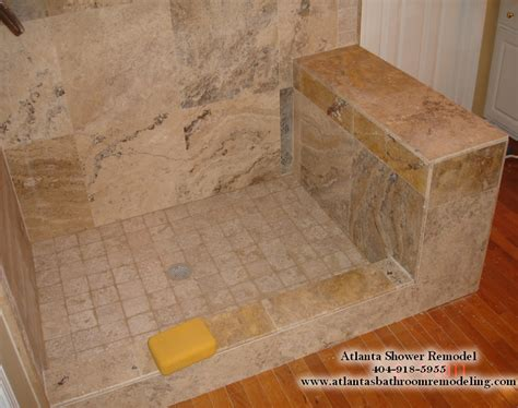 Bathroom Designs Ideas Pictures Atlanta Travertine Shower Remodeling Ideas And Pictures