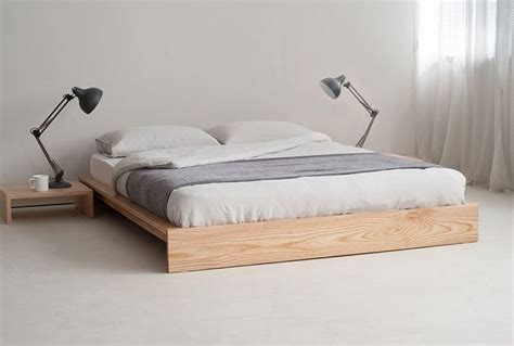 platform bed frame without headboard 25 best ideas about wood bed frames on bed