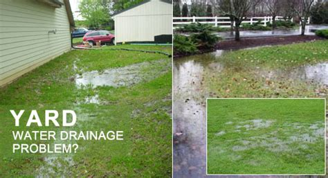 water in backyard problem water drainage problems in backyard yard drainage systems