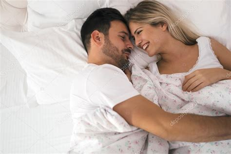 romantic pictures of couples in bed romantic couple in bed in nightwear stock photo 169 nd3000