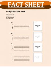fact sheet template free sheet templates