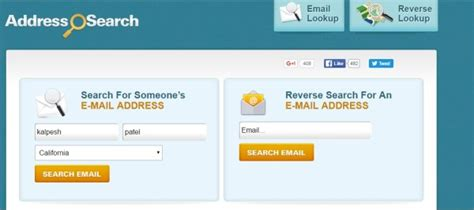 Search For An Address By Name 5 Tools To Find Email Address By Domain Or Name Web Knowledge Free