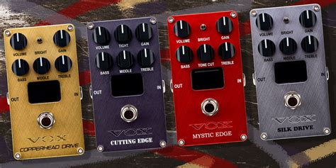 namm  vox reveal valvenergy pedal series  unique channel switching noisegate