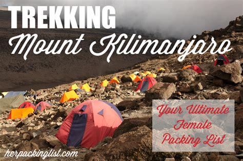 Trekking Mount Kilimanjaro Packing List Her Packing List   trekking mount kilimanjaro packing list her packing list