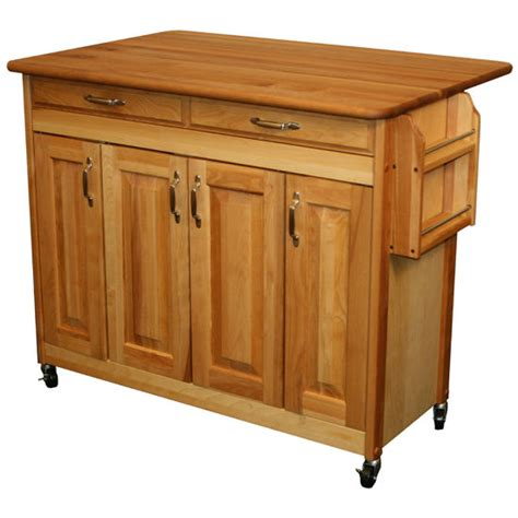 cuisine butcher block kitchen island cart with drop leaf kitchen islands carts catskill ca 54228 butcher block