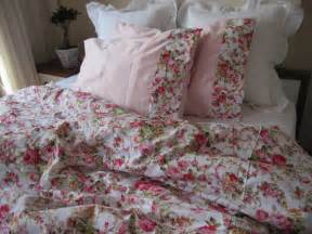shabby chic floral bedding shabby chic bedding green pink roses floral by nurdanceyiz