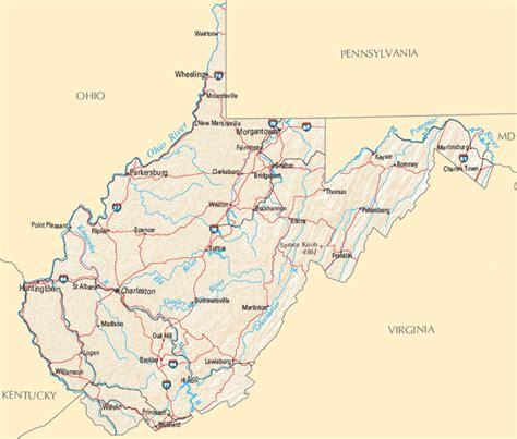west virginia west virginia map map of west virginia