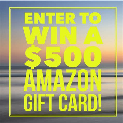 Amazon Giveaway Rules - enter to win the 500 amazon giveaway