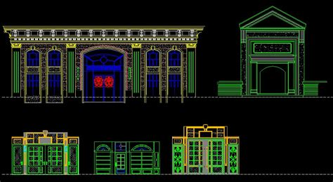 Entrance Design Cad Library Autocad Blocks Autocad | entrance design cad library autocad blocks autocad