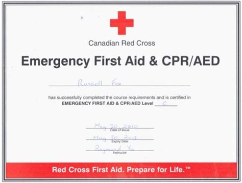 Good Cpr First Aid Certification First Aid Pinterest Training Certificate First Aid And Cpr Card Template Pdf