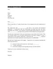 Letter formal 2 weeks notice resignation letter 2 week notice