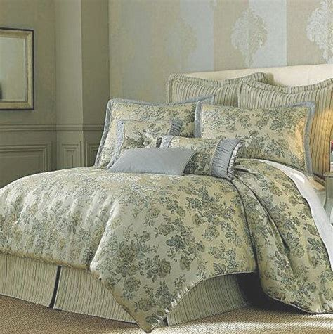 seafoam bedding 7pc chris madden brenn queen comforter tan grey seafoam