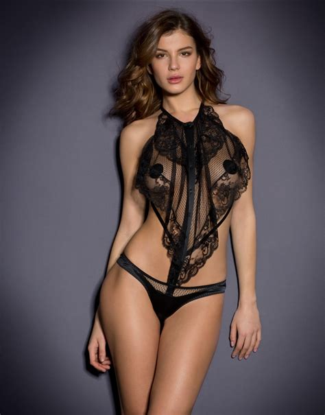 agent provocateur luxury lingerie hosiery swimwear agent provocateur chrissy playsuit in black lyst