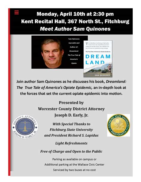 4 10 Join Author Sam Quinones As He Discusses His Book